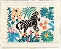 zebra jungle animals art for kids and children, animals gifts for babies and nurseries, paintings for baby and child, pictures for nursery and kids and fine art prints for child, baby and nursery by artists Jane Billman and Gregg Billman